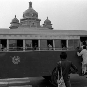 BTS bus and Vidhana Soudha